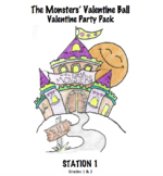 Monsters' Valentine Ball Party Pack - Station 1 Meet the Monsters