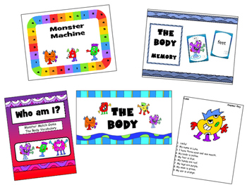 The Monsters and the Body Vocabulary Bundle – The Body ESL Vocabulary
