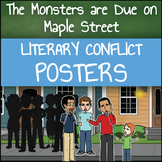 The Monsters are Due on Maple Street - Literary Conflict Posters
