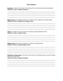 The Monsters are Due on Maple Street Plot graphic organizer