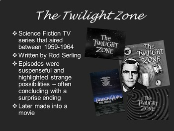 The Monsters are due on Maple Street from The Twilight Zone PowerPoint