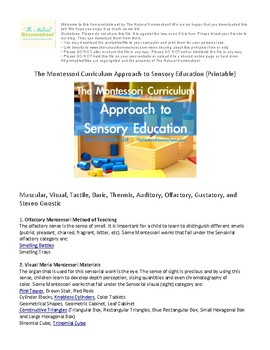 The Montessori Curriculum Approach to Sensory Education {Printable}