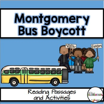 The Montgomery Bus Boycott Unit {Reading Passage and Activities}