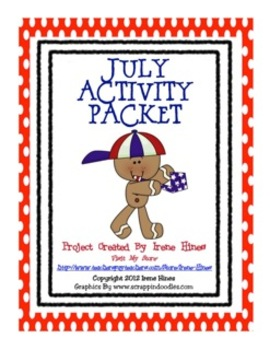 The Month Of July Activity Packet