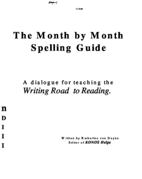 The Month by Month Spelling Guide