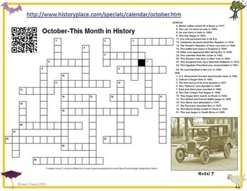 The Year in History Calendar with Crossword Puzzles