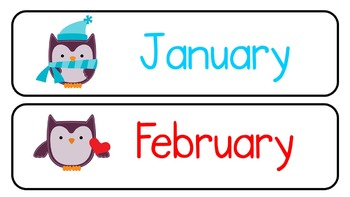 The Months of the Year (Owls!)