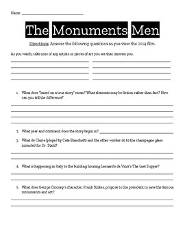 The Monuments Men Film Packet