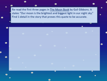 The Moon Book by Gail Gibbons - Text Based Questions
