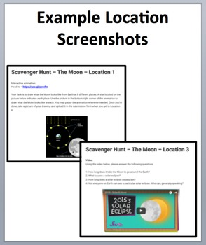 The Moon – Device-Based Scavenger Hunt Activity