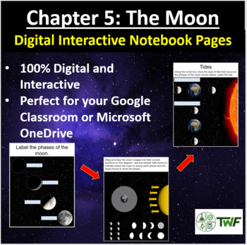 The Moon  - Digital Interactive Notebook Pages