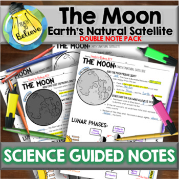 The Moon - Earth's Natural Satellite - Guided Notes