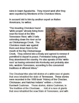 The Moon Eyed People and the Cherokee Tribe