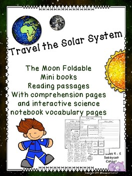 The Moon Foldable Minibook and Comprehension sheets