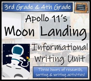 The Moon Landing - 3rd Grade & 4th Grade Informational Text Writing Activity