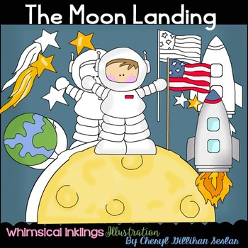 The Moon Landing Clipart Collection