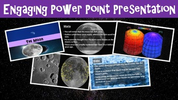 The Moon No Prep Lesson with Worksheet, Power Point, and Word Search