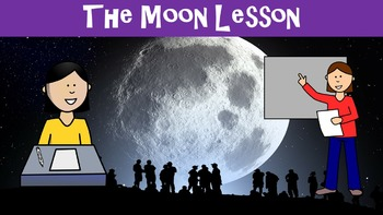 The Moon No Prep Lesson with Worksheet, Power Point, and W