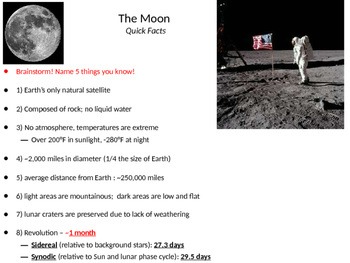 The Moon - Phases, Eclipses, Tides, and Exploration