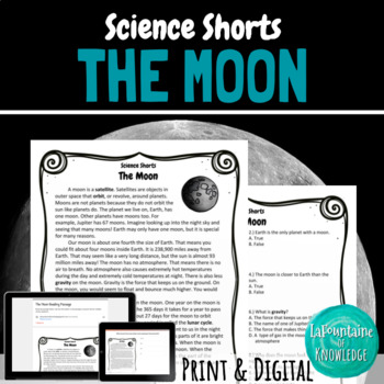 The Moon Reading Comprehension Passage