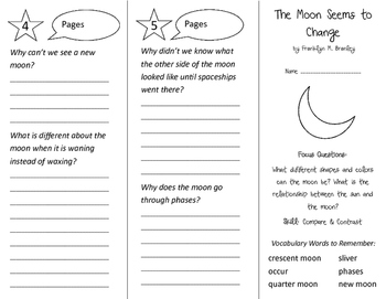 The Moon Seems To Change Trifold - Imagine It 3rd Grade Unit 4 Week 3