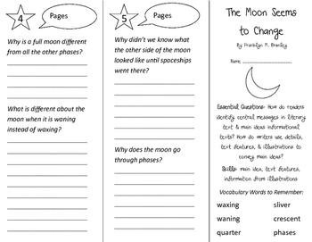 The Moon Seems To Change Trifold - ReadyGen 2016 3rd Grade Unit 1 Module B