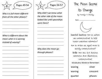The Moon Seems To Change Trifold - ReadyGen 3rd Grade Unit 1 Module B