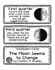The Moon Seems to Change Vocabulary Cards and Bookmarks
