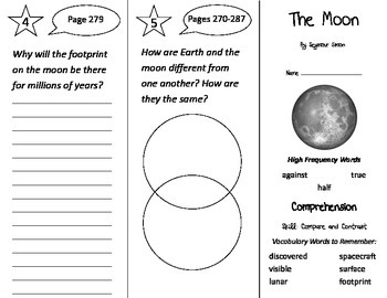 The Moon Trifold - Treasures 2nd Grade Unit 5 Week 5 (2009)