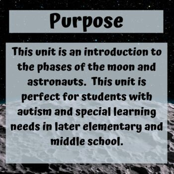 The Moon Unit for Special Education