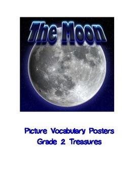 The Moon Vocabulary Posters for Grade 2 Treasures