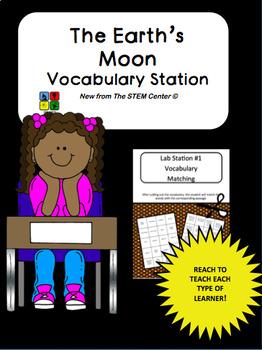 The Moon Vocabulary Station