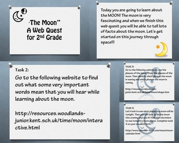 The Moon Web Quest/PowerPoint for Second Grade