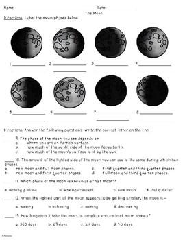 The Moon Worksheet