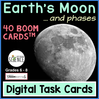 Boom Cards | The Moon and Its Phases | Distance Learning