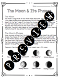 The Moon and Its Phases Worksheet