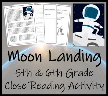 The Moon Landing - 5th & 6th Grade Close Reading Activity