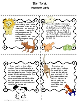 The Moral:  Stories and Fables 2nd Grade