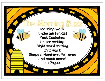 The Morning Buzz- Morning Work K-1