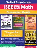 The Most Comprehensive ISEE Upper Level Math Preparation Bundle