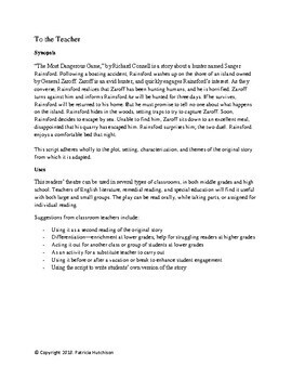 The Most Dangerous Game-- A Readers' Theater Adaptation with Activities