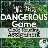 Most Dangerous Game Close Reading Assignment