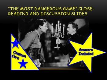 The Most Dangerous Game Close-reading Slides—Grades 8-10