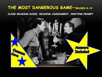 The Most Dangerous Game—Close-reading and Writing Materials—Grades 8-10