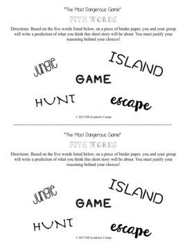 The Most Dangerous Game Short Story Unit