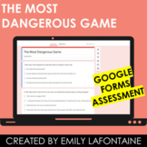 The Most Dangerous Game Google Forms Digital Multiple Choice Test