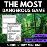 The Most Dangerous Game Short Story Unit with Questions and Activities