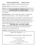 The Most Dangerous Game Reader's Theater Script and Lesson Plan