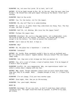 radio script - Ronni kaptanband co