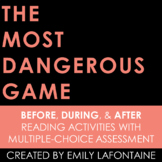 The Most Dangerous Game Reading Comprehension Activities &